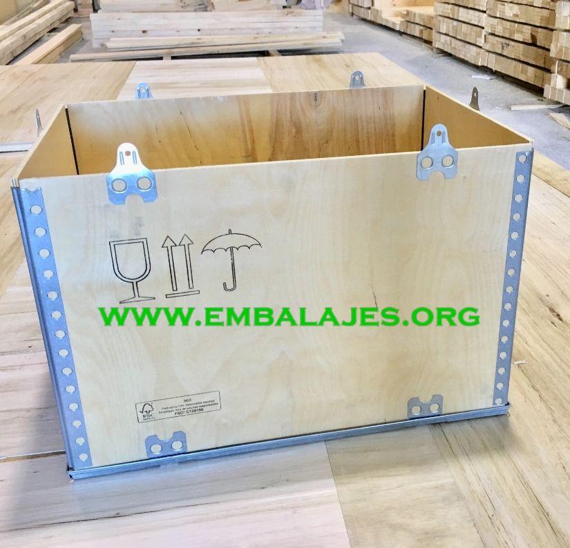 Cajas de embalaje de madera plegables para exportación