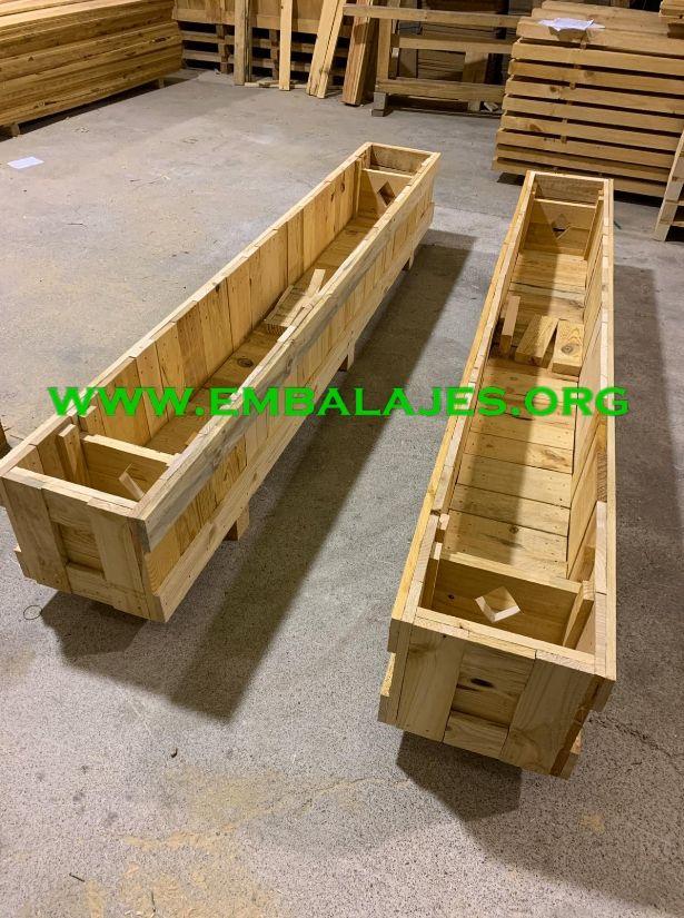 Cajas de madera natural para embalaje industrial
