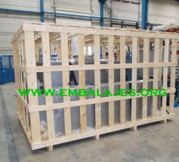 Embalaje en jaulas de madera