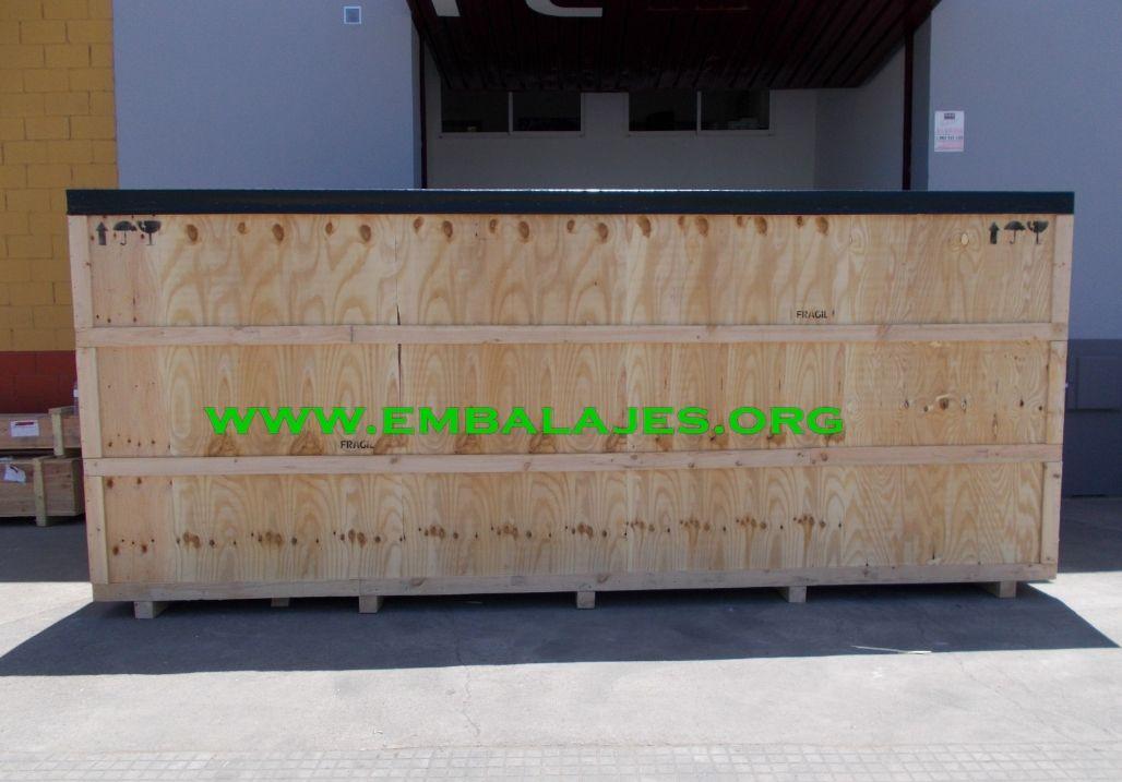 Embalaje industrial de cajas de madera contrachapada