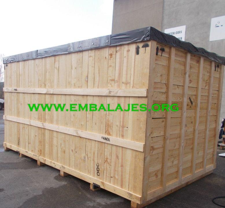 Embalaje industrial de cajas de madera natural