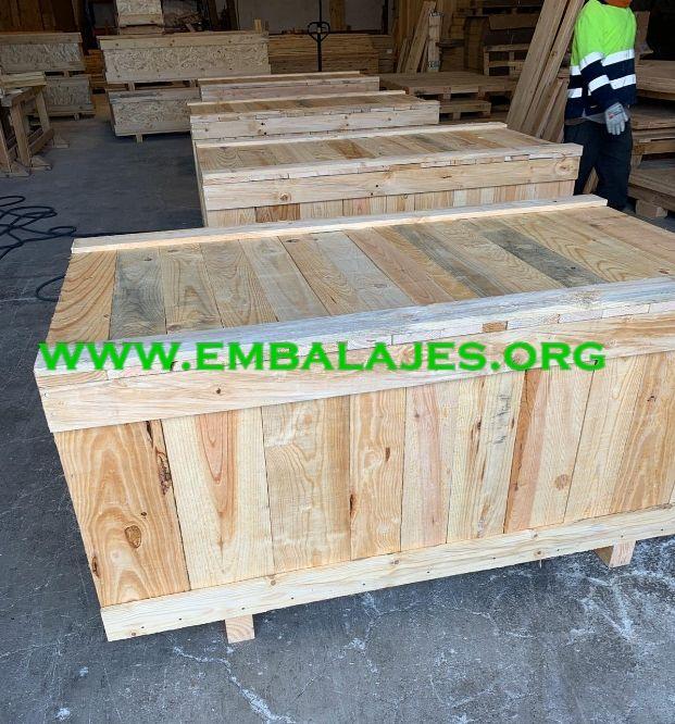 Embalajes industriales cajas madera natural