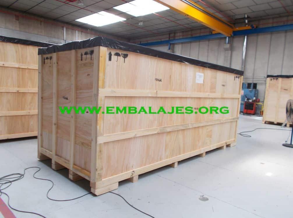 Embalajes industriales de cajas madera contrachapada
