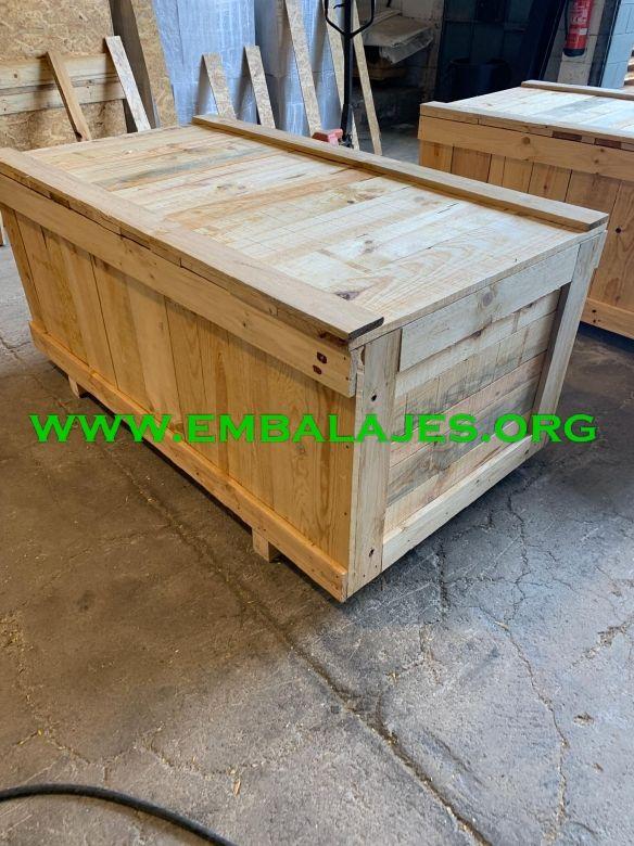 Embalajes industriales de madera natural