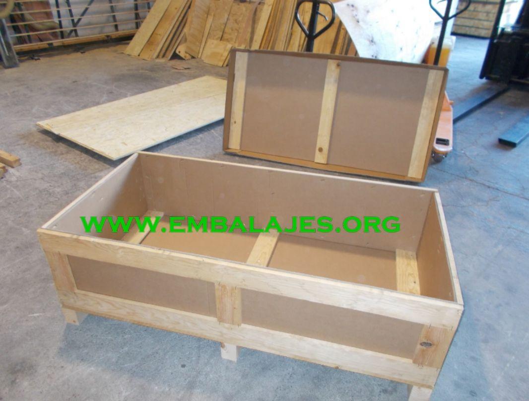 Embalajes mixtos de cartón y madera