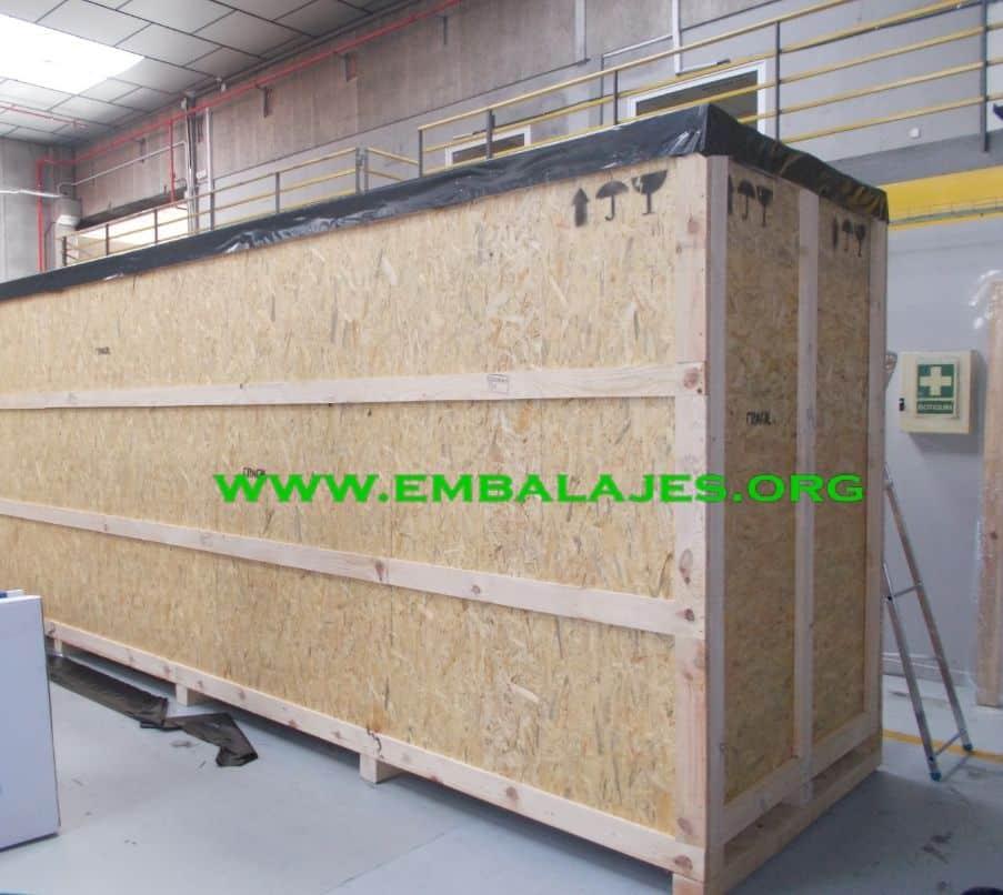 Fábrica de embalaje Caja Madera OSB exportación