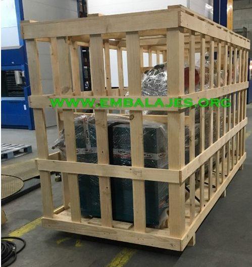 Fabricación de jaulas de madera a medida para el transporte
