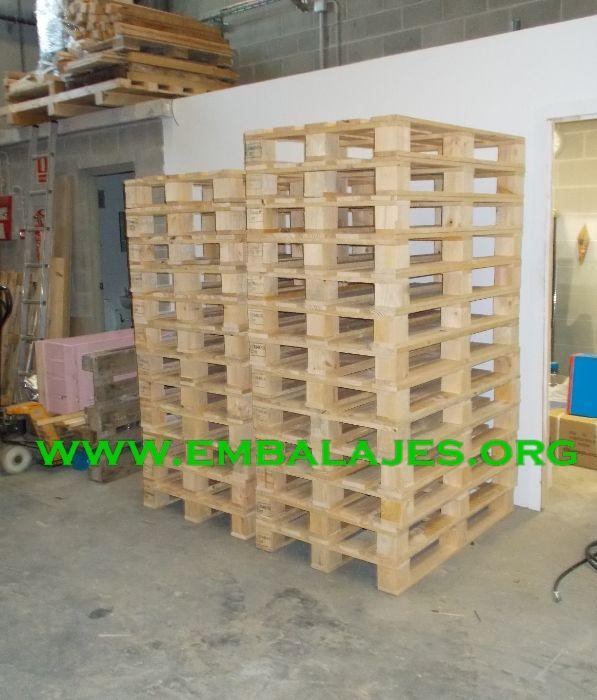 Fabricamos palets EUR y a medida para embalaje industrial