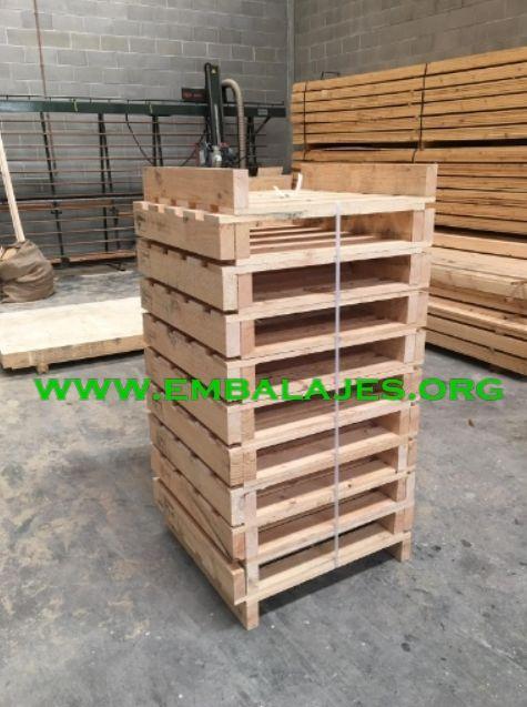 Fabricamos palets EUR y a medida en madera natural