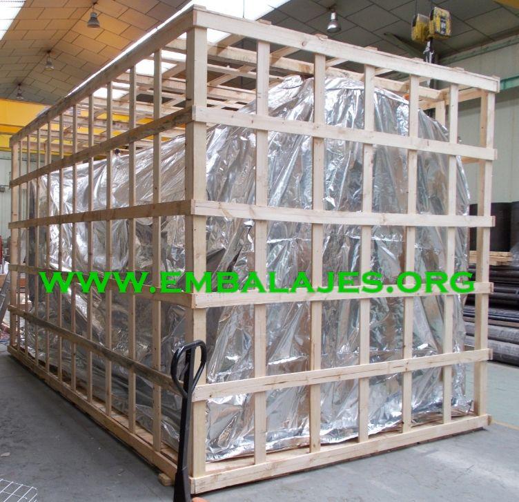 Jaulas de madera para embalajes industriales