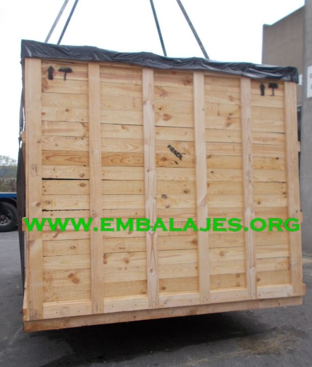 Madera natural para cajas de embalajes industriales