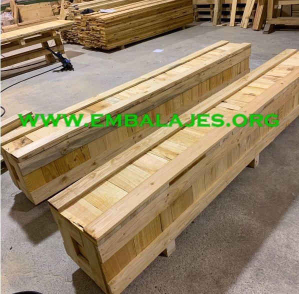 Soluciones integrales de embalaje de madera natural