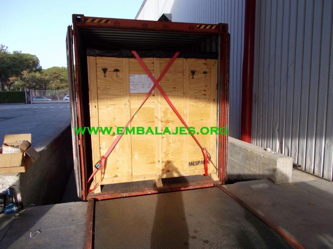 Trincaje de cargas en contenedores
