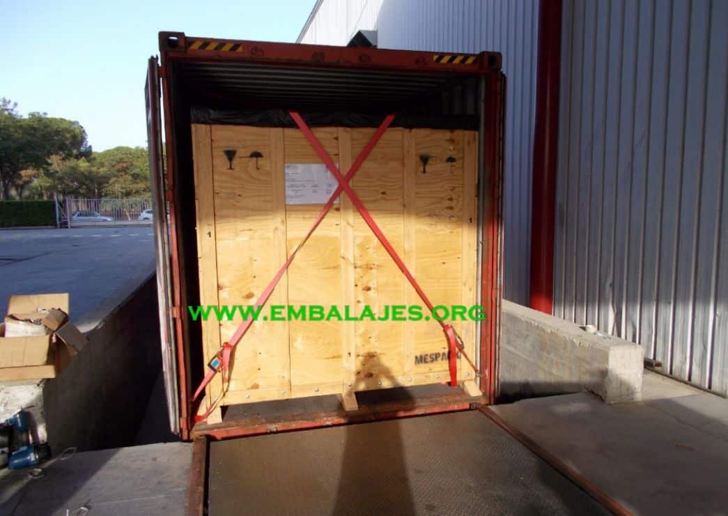 Trincaje de contenedores embalaje industrial