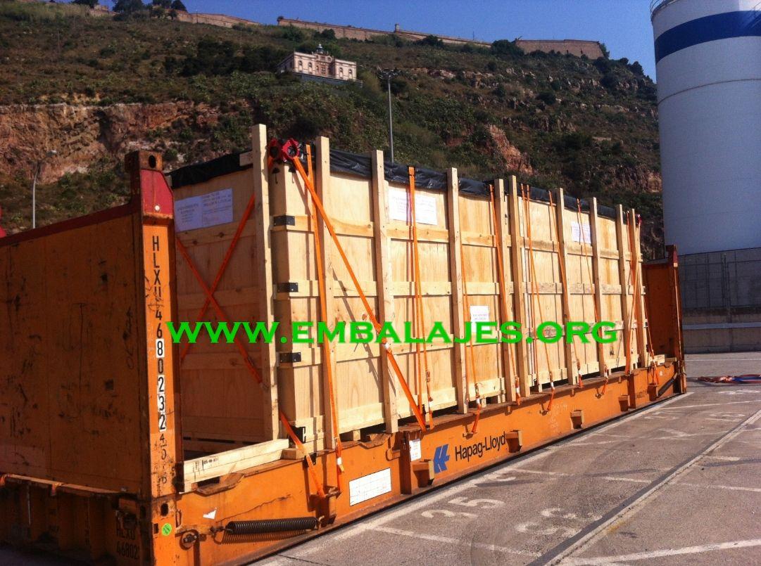 Trincaje de mercancías para transportes terrestres