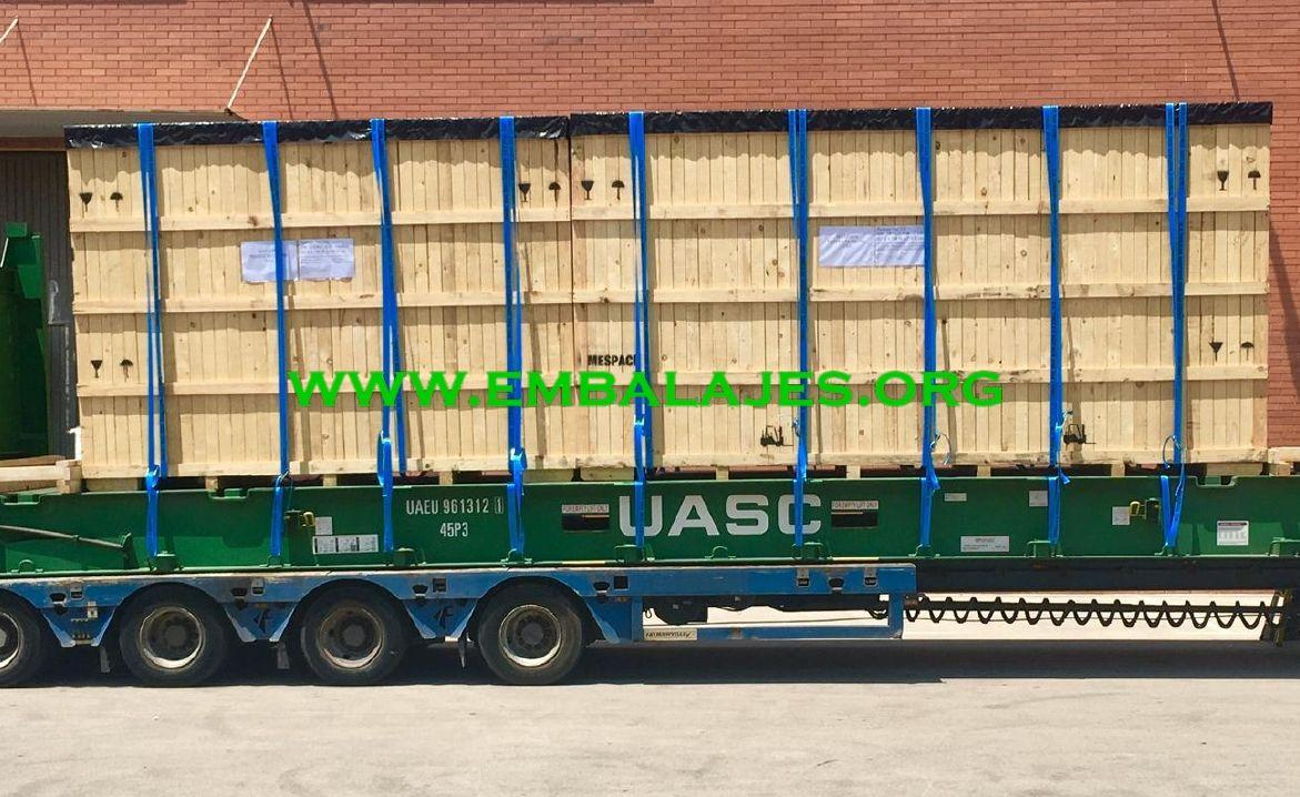 Trincajes de cargas sobre camiones o contenedores