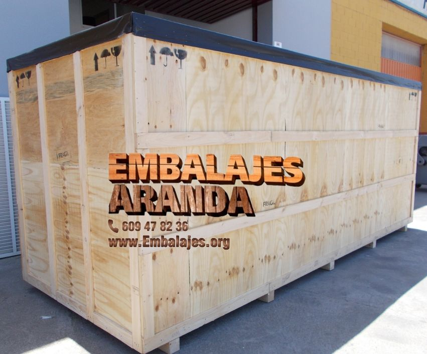 Cajas de madera y embalaje industrial en Eskoriatza Gipuzkoa