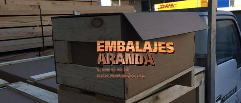 Embalaje madera Campo Real Madrid