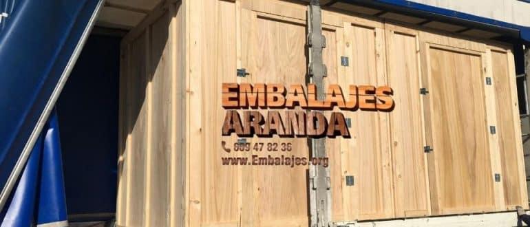 Embalaje madera Canet de Mar Barcelona